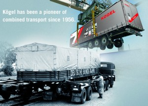 Did you know that Kögel has been a pioneer of combined transport since 1956?