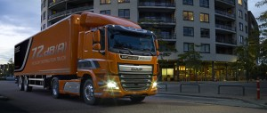 DAF present extra quiet CR distribution truck