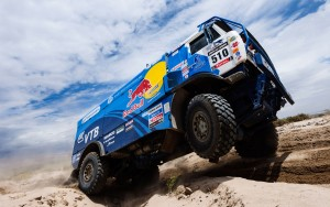 Kamaz-Red-Bull-Dakar-Truck-Wheel-In-Air