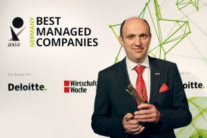Kögel pasiekimai įvertinti Axia Best Managed Companies Award premija
